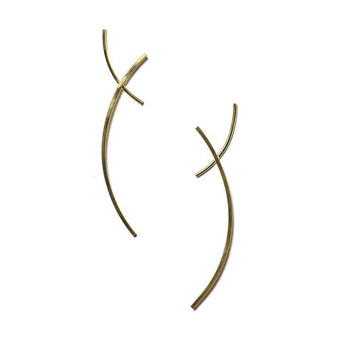 Arc Earrings Brass