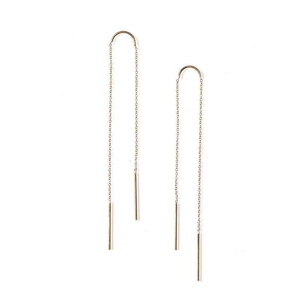 Petite Arc Ear Threaders Yellow Gold
