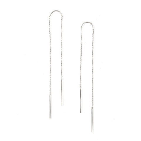 Petite Arc Ear Threaders Sterling
