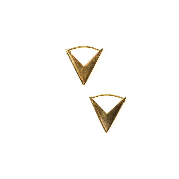 Arrow Hoops Yellow Gold