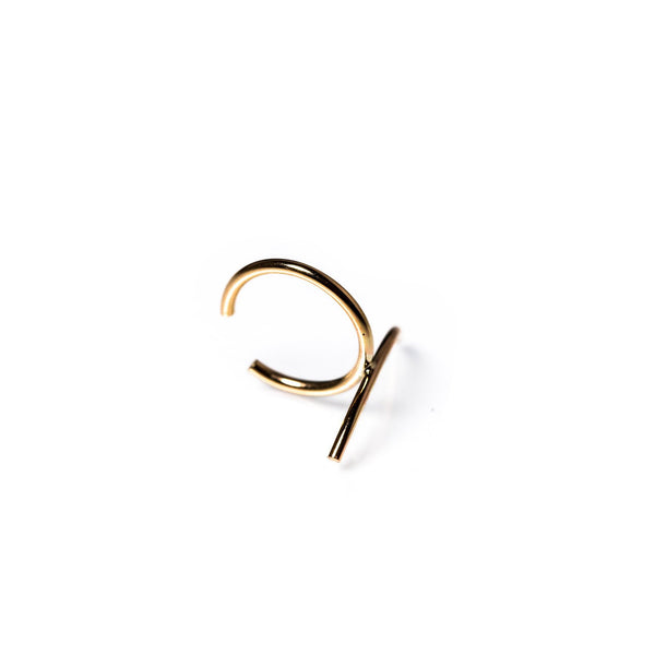 Arc Ear Cuff Yellow Gold