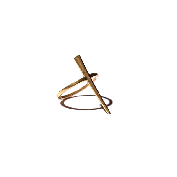 Telson Spike Ring in Brass