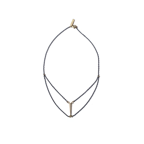 Telson Swag Necklace in Brass