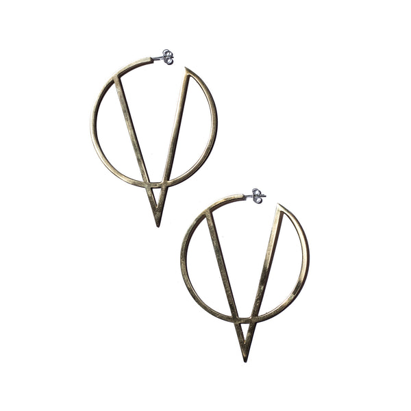 Flying V Hoops in Brass
