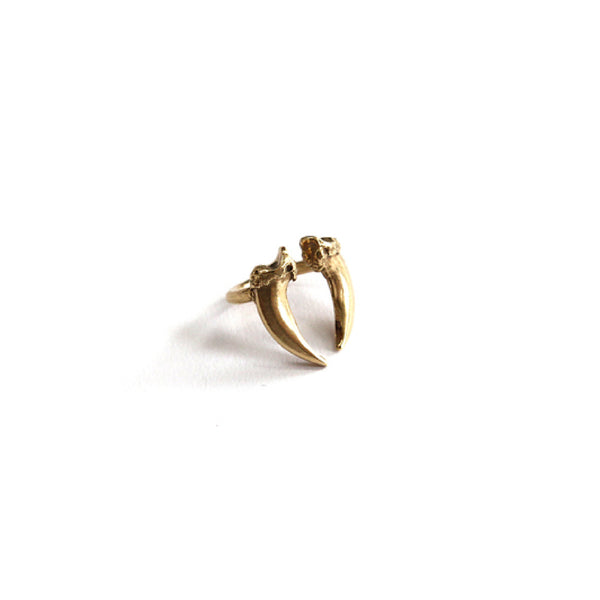 Brass Double Claw Ring
