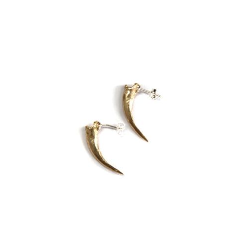 Brass Claw Stud Earrings