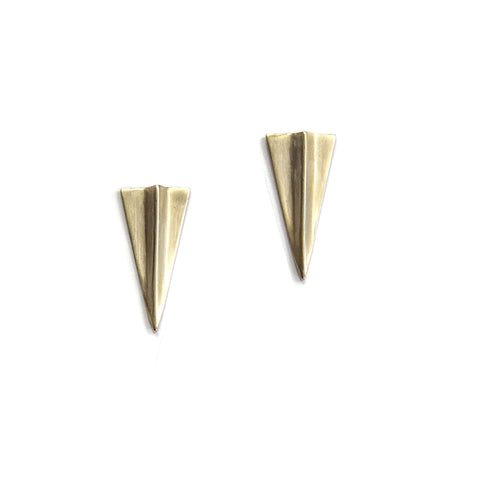 Ghost Peak Earrings Brass