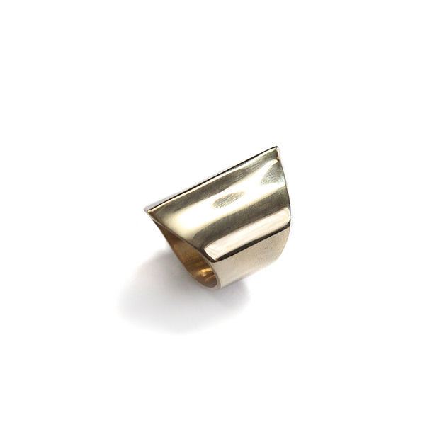 Ghost Peak Ring Brass