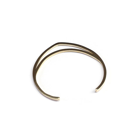Single Tri Cuff Brass
