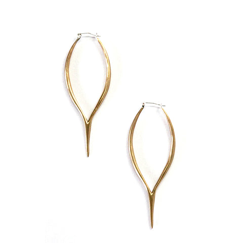 Merging Quill Earrings Brass