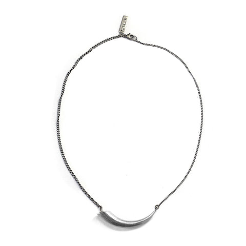 Petite Smooth Horn Collar Sterling