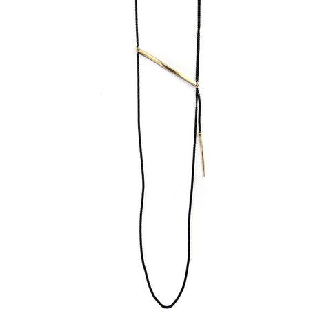 Twist Bar Swag Necklace Brass