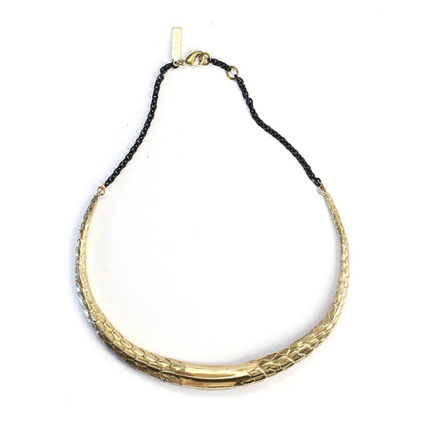 Large Scaled Choker Brass