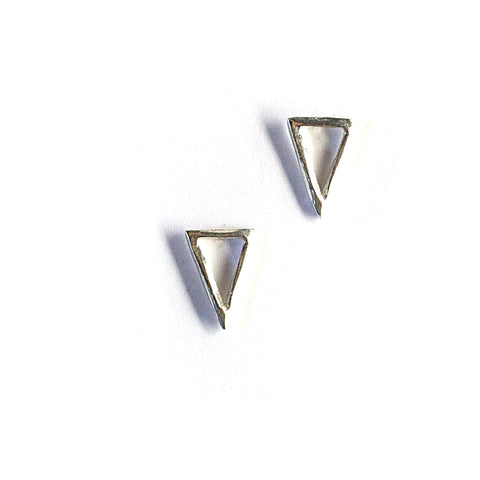 Triangle Twist Studs Sterling