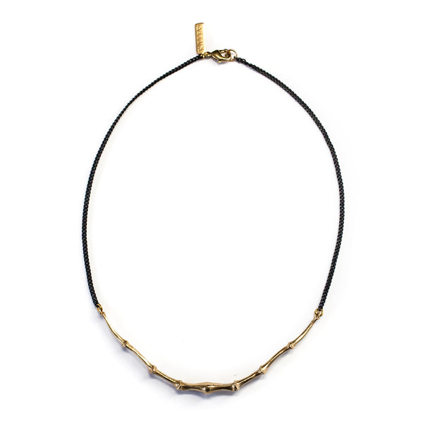 Bat Tail Collar Brass