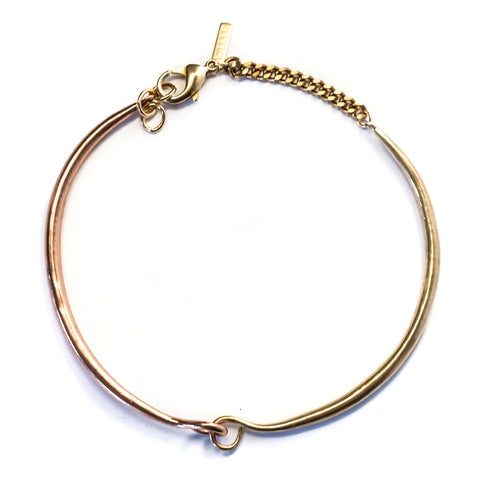 Hinged Choker Brass / Rose Gold