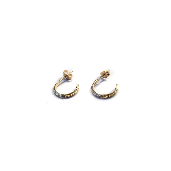 Petite Scaled Hoops Gold