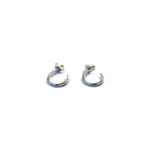 Petite Scaled Hoops Sterling