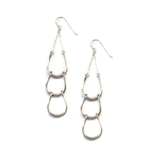 Cascade Horseshoe Earrings Sterling