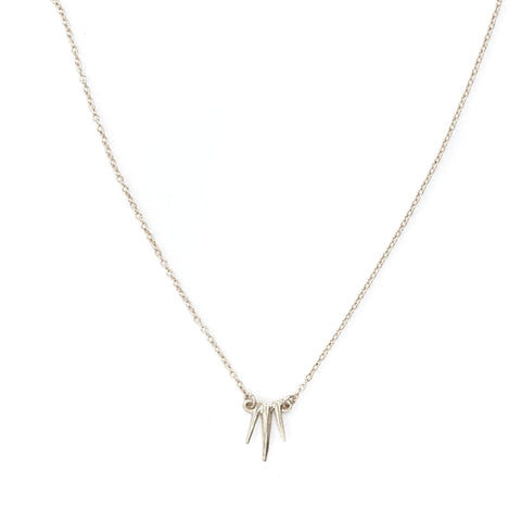 Petite Single Burst Necklace Sterling
