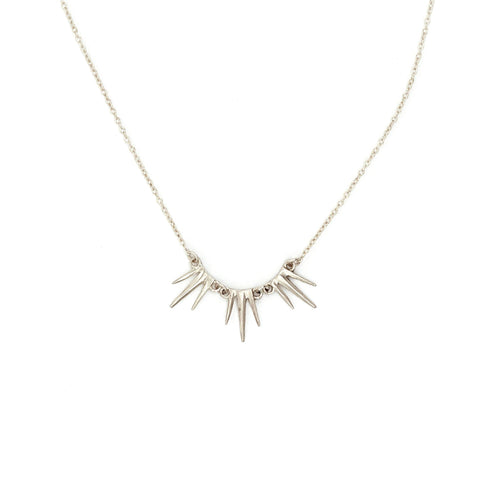 Petite Triple Burst Necklace Sterling