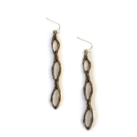 Chain Link Cactus Earrings Brass
