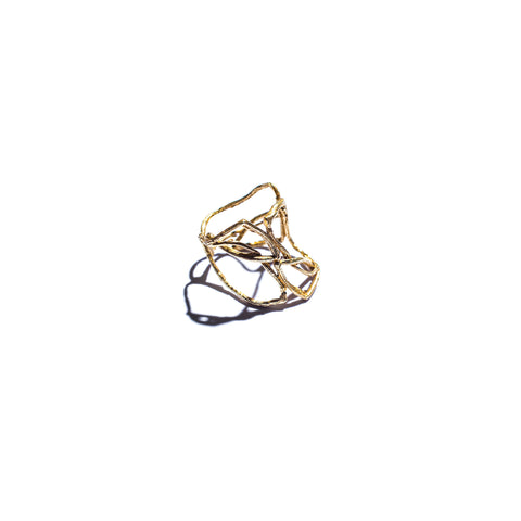 Willow Cage Ring Brass