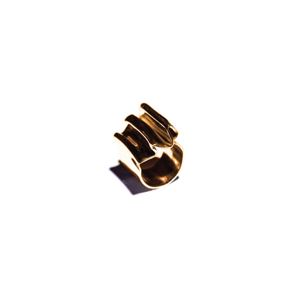 Pleat Ring Brass