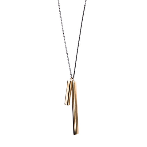 Double Pleat Pendant Brass