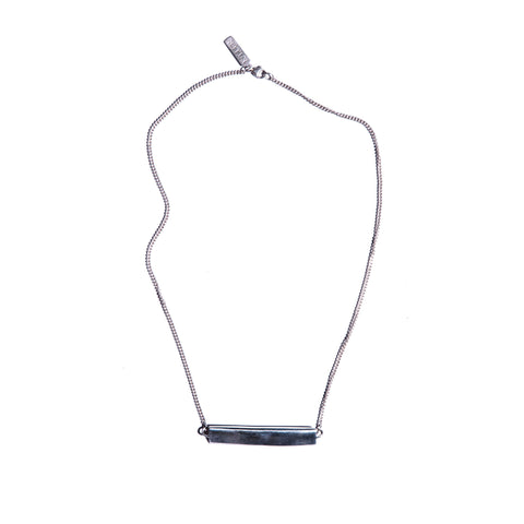 Reversible Pleat Lateral Necklace Sterling