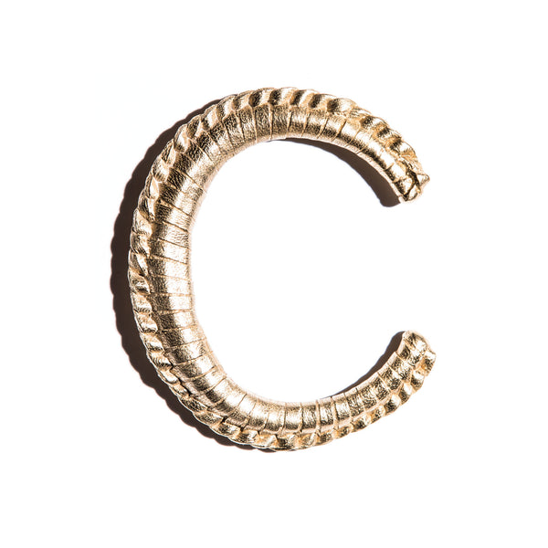 Large Cast Brass Macramé Cuff