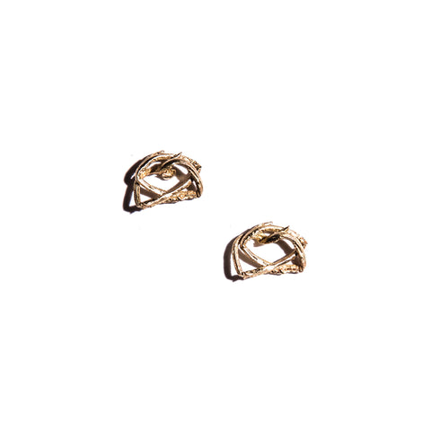 Petite Willow Nest Stud Gold