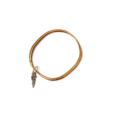 Brass Quill Bangle W Arrowhead