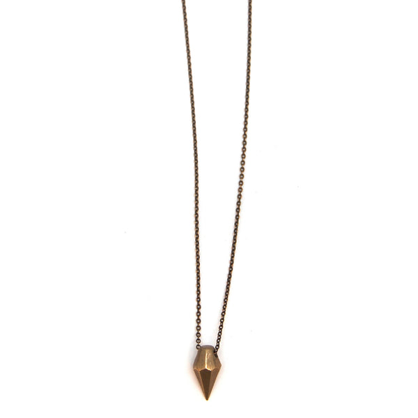 Single Brass Diamond Pendant