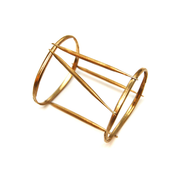 Brass Quill Cage Bangle