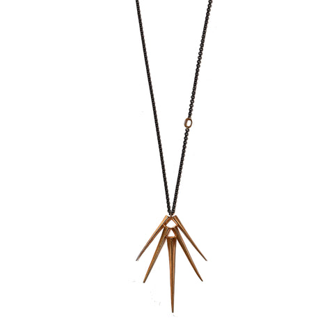 Adjustable Telson Burst Pendant Brass