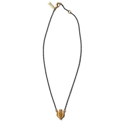 Prism Crest Necklace Brass