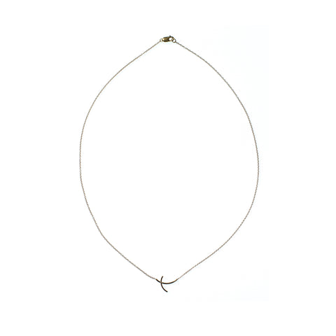 Petite Arc Necklace Yellow Gold