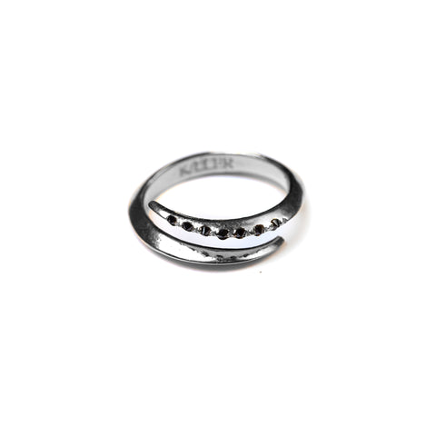 Telson Wrap Ring W Black Diamonds Sterling