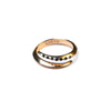 Telson Wrap Ring W Black Diamonds Yellow Gold
