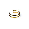 Double Lined Ring Yellow Gold