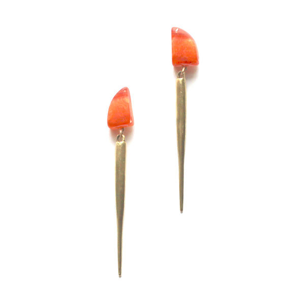 Carnelian / Brass Spike Drops a Collaboration with Hinge Designs