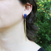 Lapis Lazuli / Brass Quill Drops a collaboration with Hinge Designs