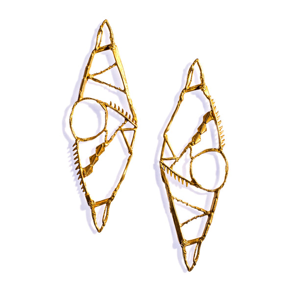 10 Year Shebang Earrings Brass