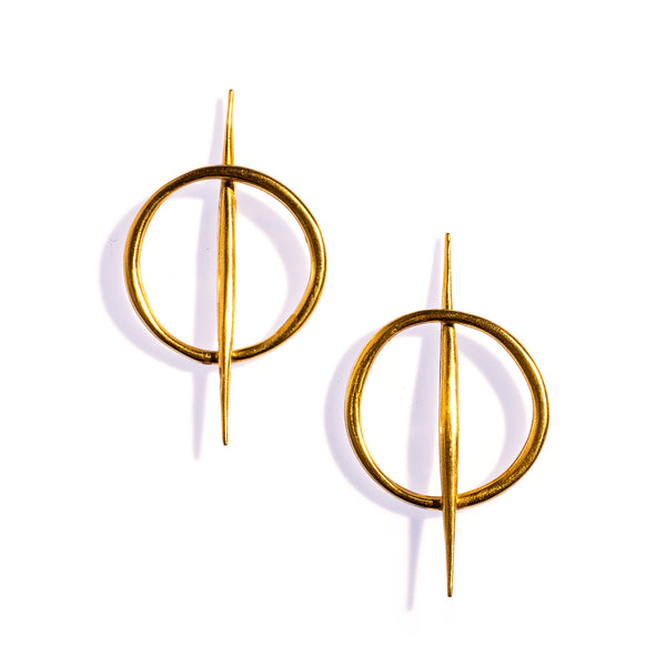 Small Quill Rising Studs Brass