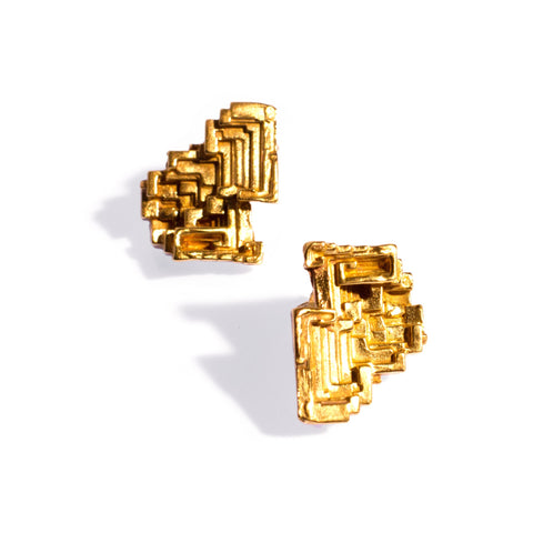 Bismuth Studs Brass