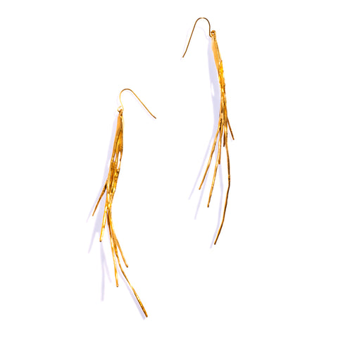 Tillandsia Earrings Brass