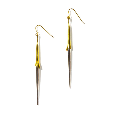 BIONIC EARRINGS BRASS / STERLING