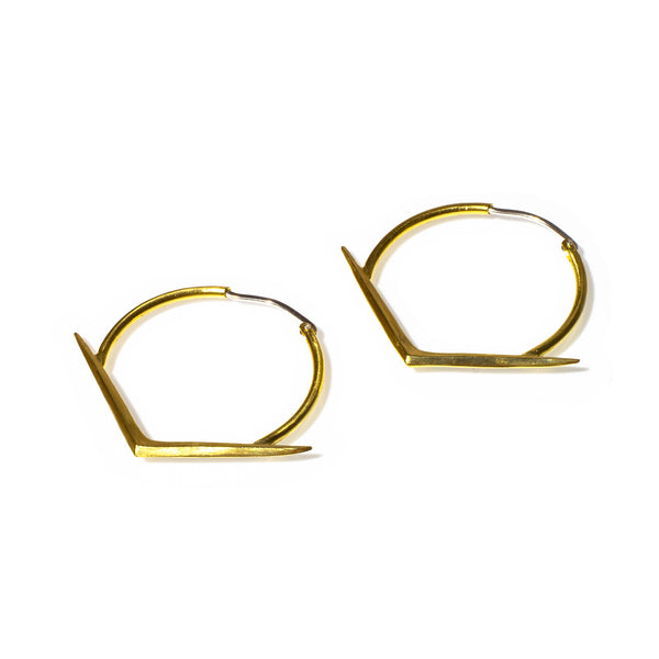 MEDIUM RAY HOOPS BRASS