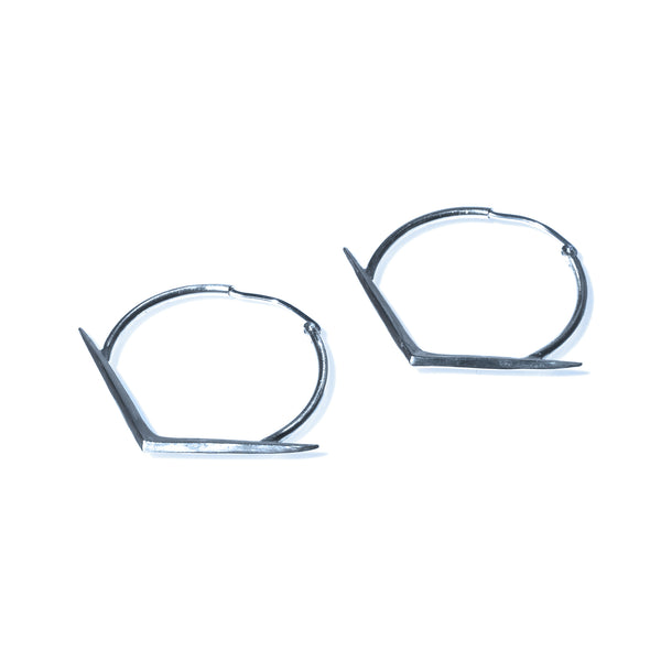 MEDIUM RAY HOOPS STERLING